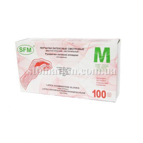 Перчатки латексные SFM (50пар)